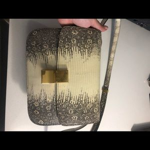 Celine Box Bag Lizard leather